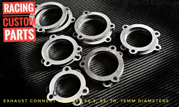 Exhaust connect flanges 2,5″ 63mm Laser Cut Parts exhaust custom