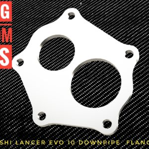Mitsubishi Lancer EVO X Downpipe flange racing custom parts billet cnc