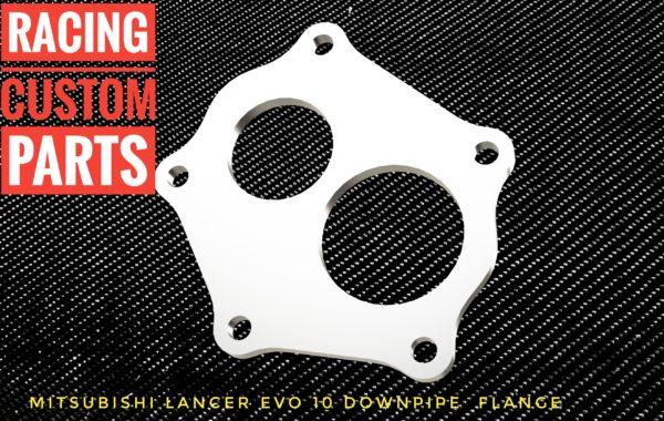 Mitsubishi Lancer EVO X Downpipe flange racing custom parts billet cnc