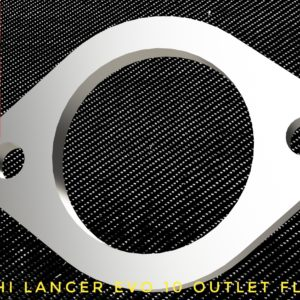 mitsubishi lancer evo x outlet flange racing custom parts billet cnc