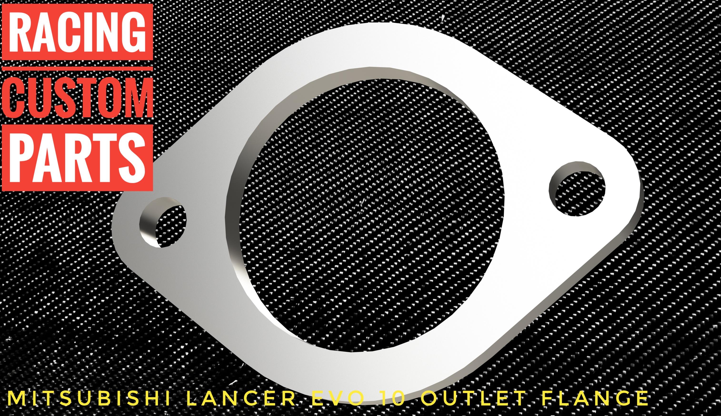 Mitsubishi Lancer EVO X outlet flange