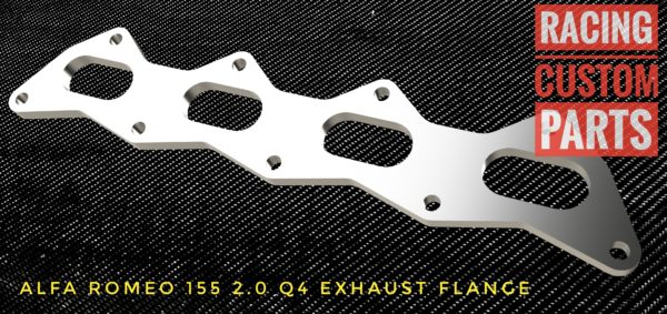alfa romeo 155 2,0 q4 exhaust flange racing custom parts billet cnc