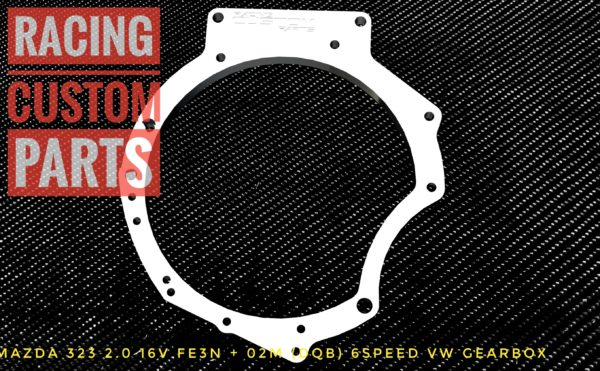 mazda 323 fe3n 02m audi vw gearbox adapter racing custom parts billet cnc