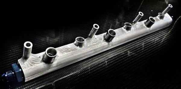 audi vw r32 high flow fuel rail racing custom parts billet cnc