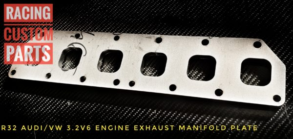 Audi VW R32 3,2 V6 Exhaust manifold plate racing custom parts billet cnc