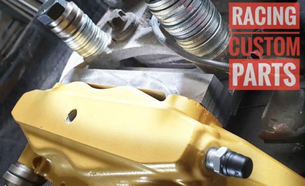 Saab 9-3 brake adapters 330mm brake discs + alfa romeo 159 brake calipers racing custom parts billet cnc
