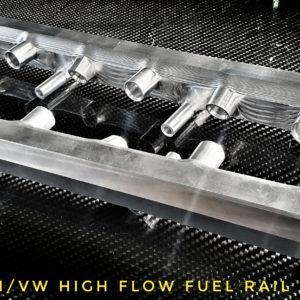 r32 3,2v6 audi/vw high flow fuel rail racing custom parts billet cnc