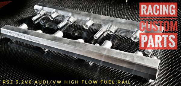 r32 3,2v6 audi/vw high flow fuel rail racing custom parts billet cnc