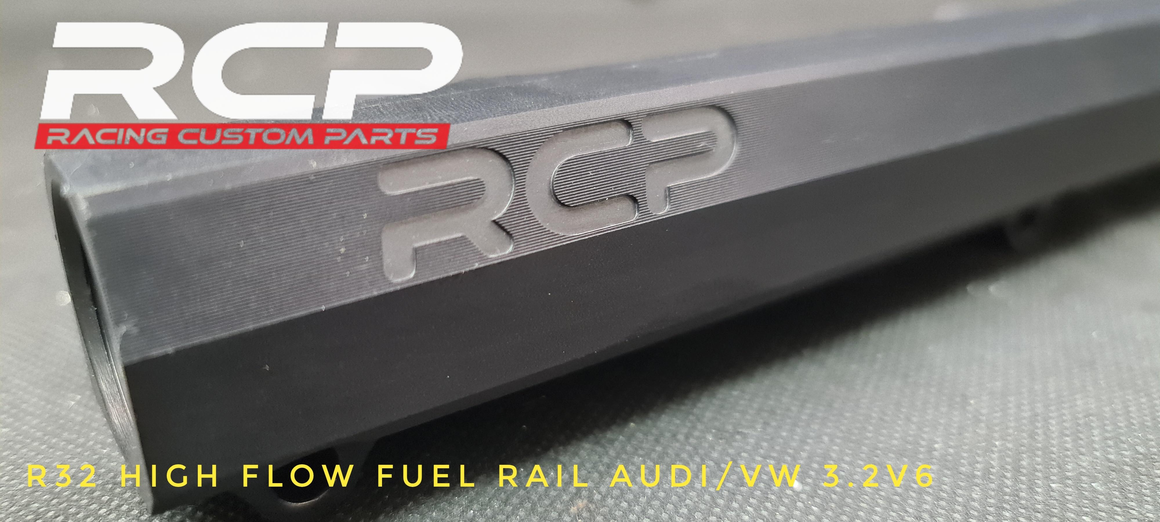 r32 high flow fuel rail 3.2v6 intake manifold, turbo more power rcp billet cnc racing custom parts