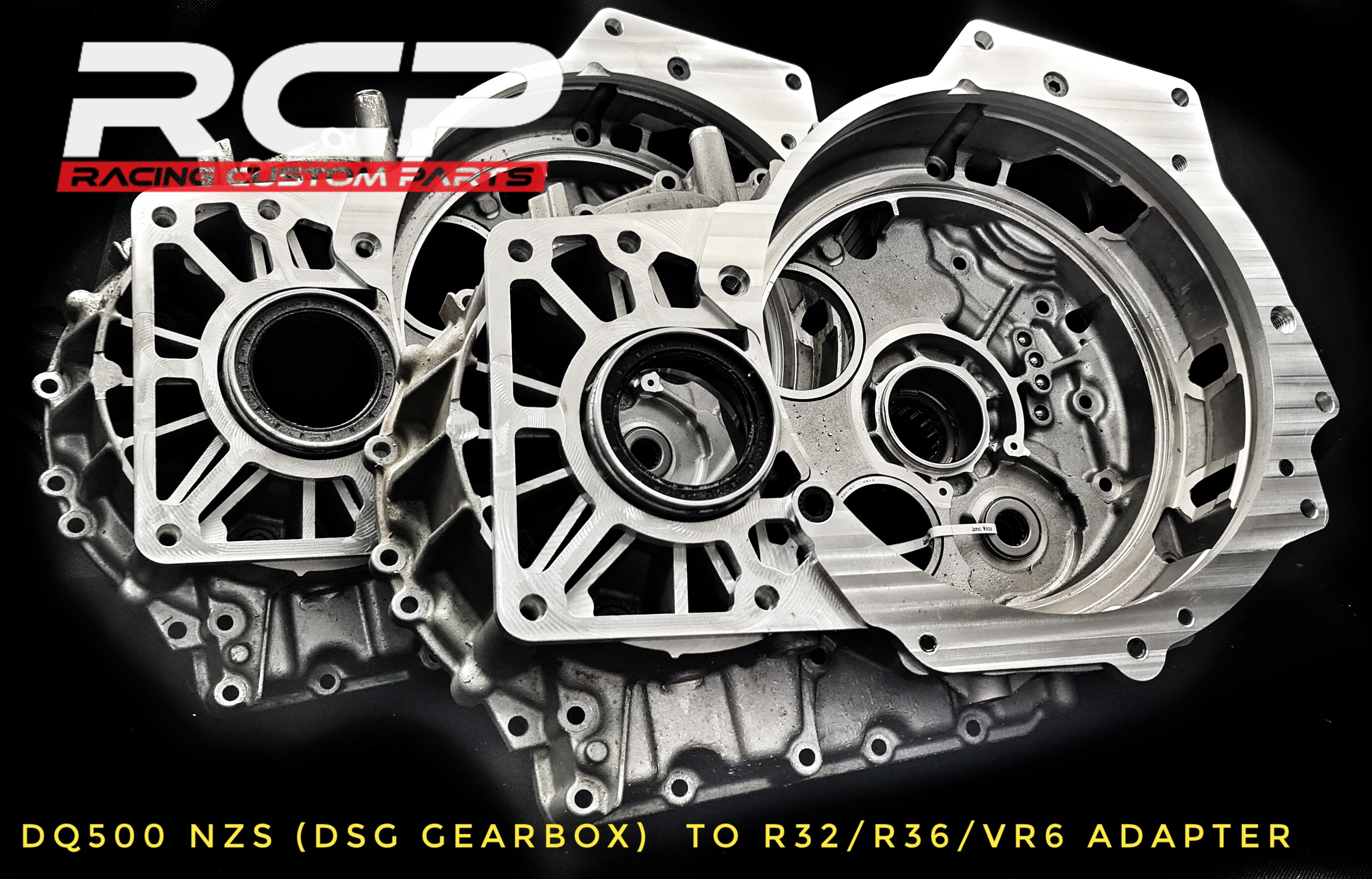 vr6 r32 r36 dsg dq500 automatic gearbox adapter conversion billet cnc racing custom parts