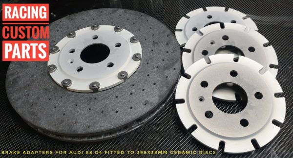 audi s8 d4 ceramic brake adaters racing custom parts billet cnc