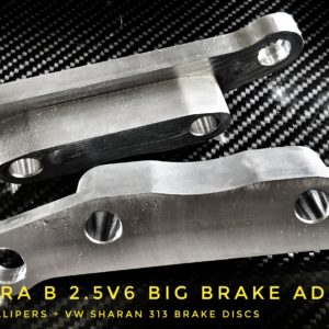 Opel Vectra B 2.5V6 big brake adapters 313mm brembo calipers racing custom parts billet cnc