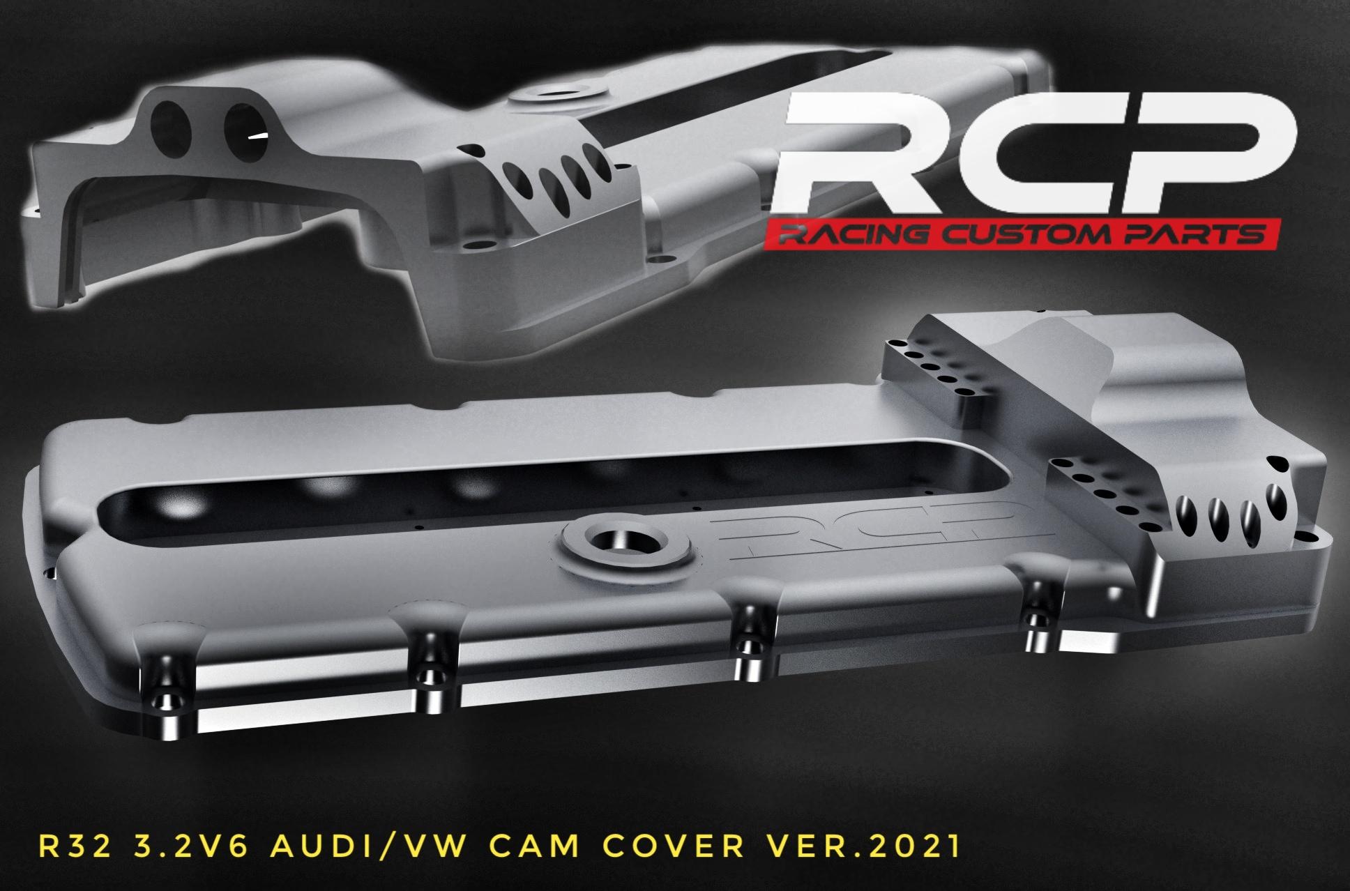 billet machining cnc r32 r36 head cam cover rcp racing custom parts turbo vw audi