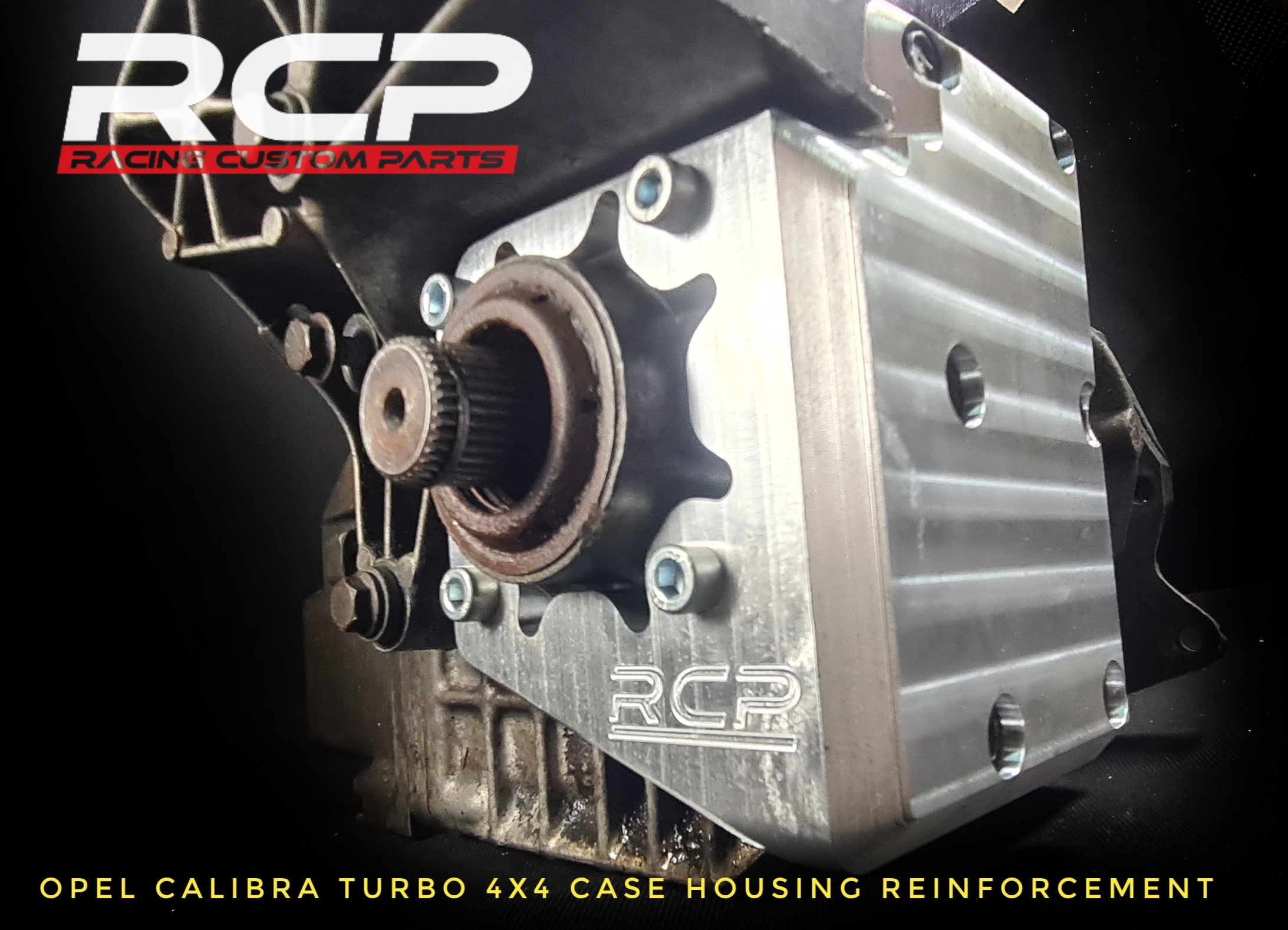 opel calibra turbo c20let transfer case 4x4 reinforcement plate billet cnc racing custom parts