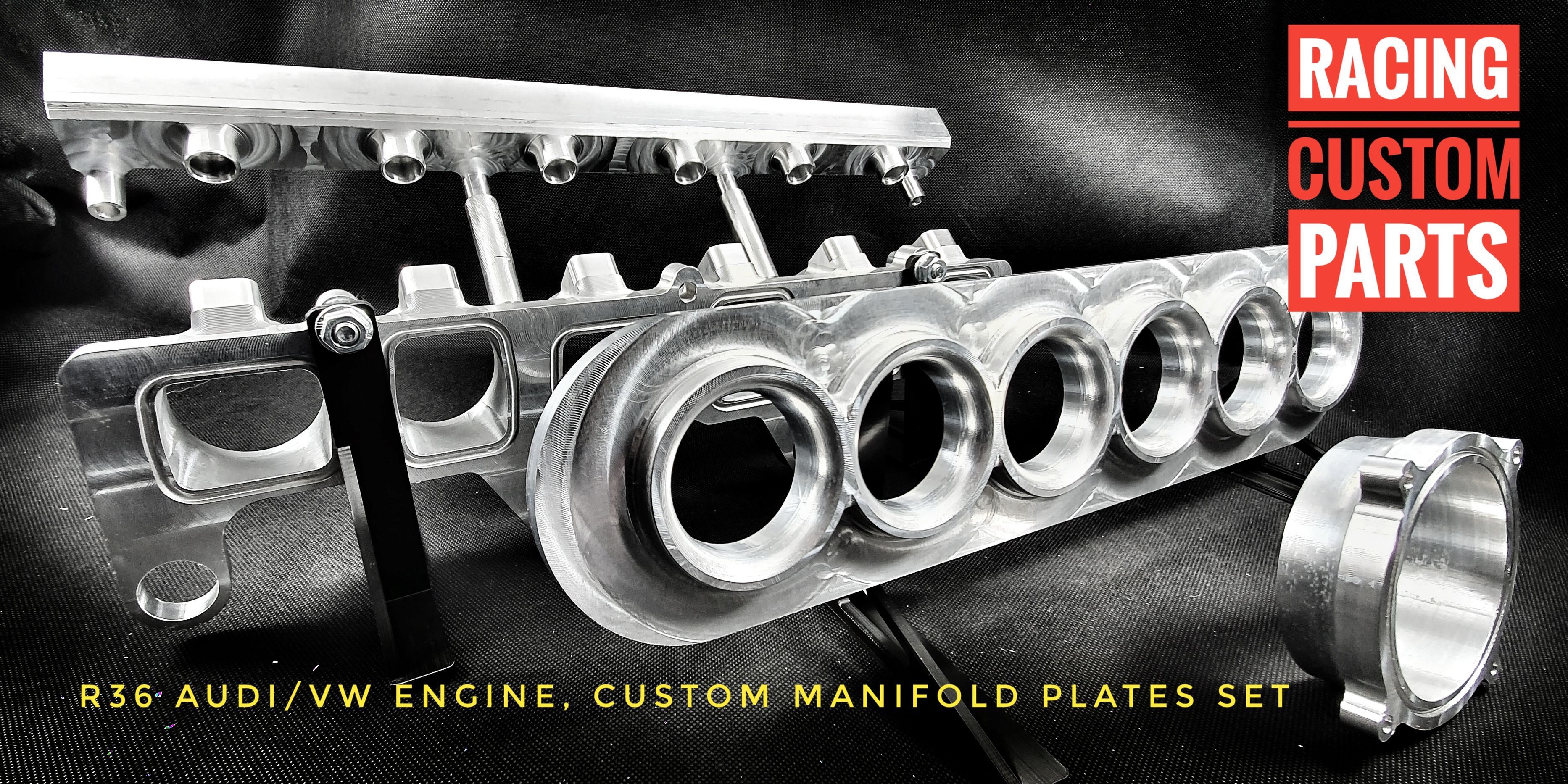 R36 audi vw passat 3.6 v6 custom billet cnc intake inlet manifold plate mpi adapter racing custom parts