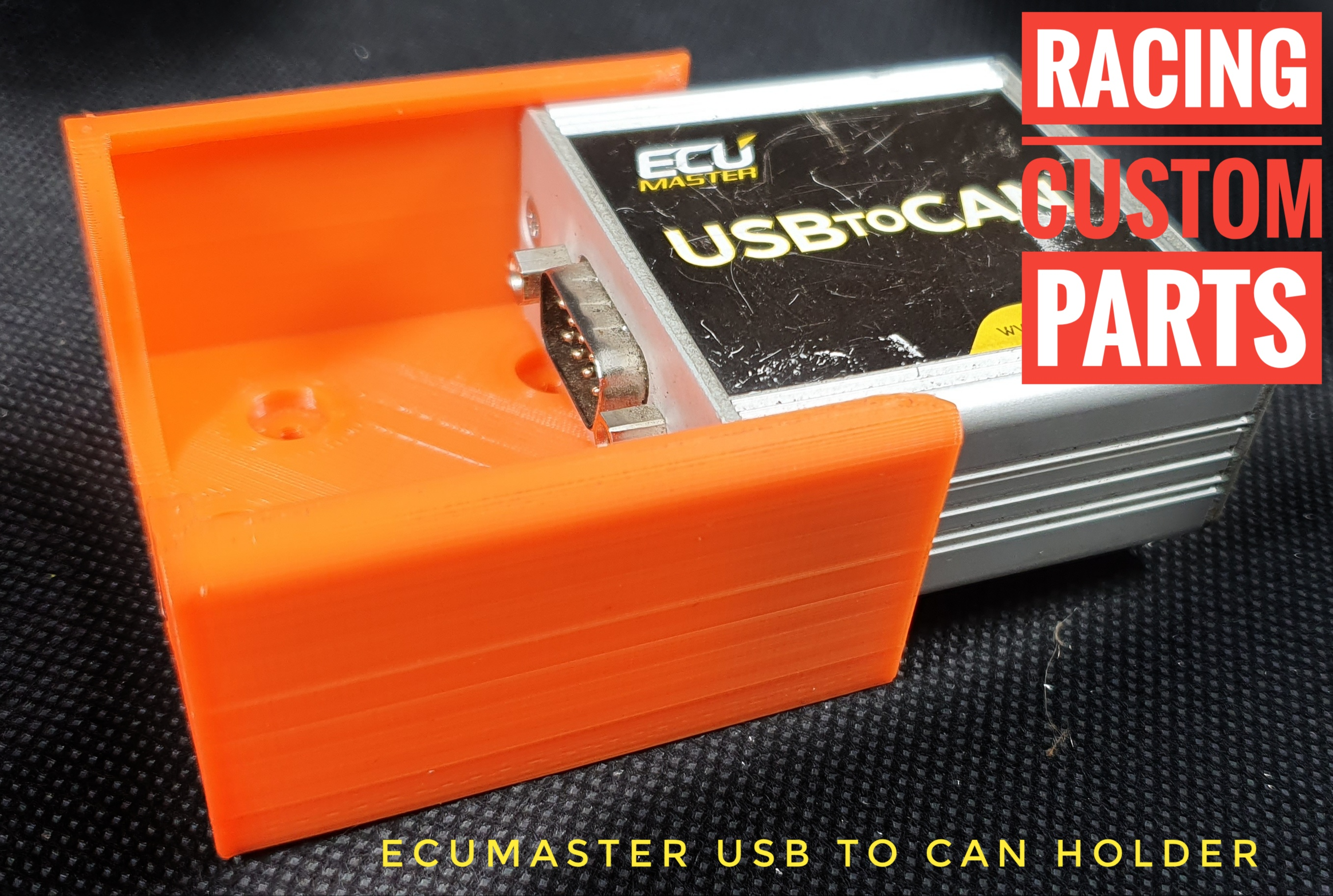 Ecumaster usb to can holder racing custom parts 3d printed parts