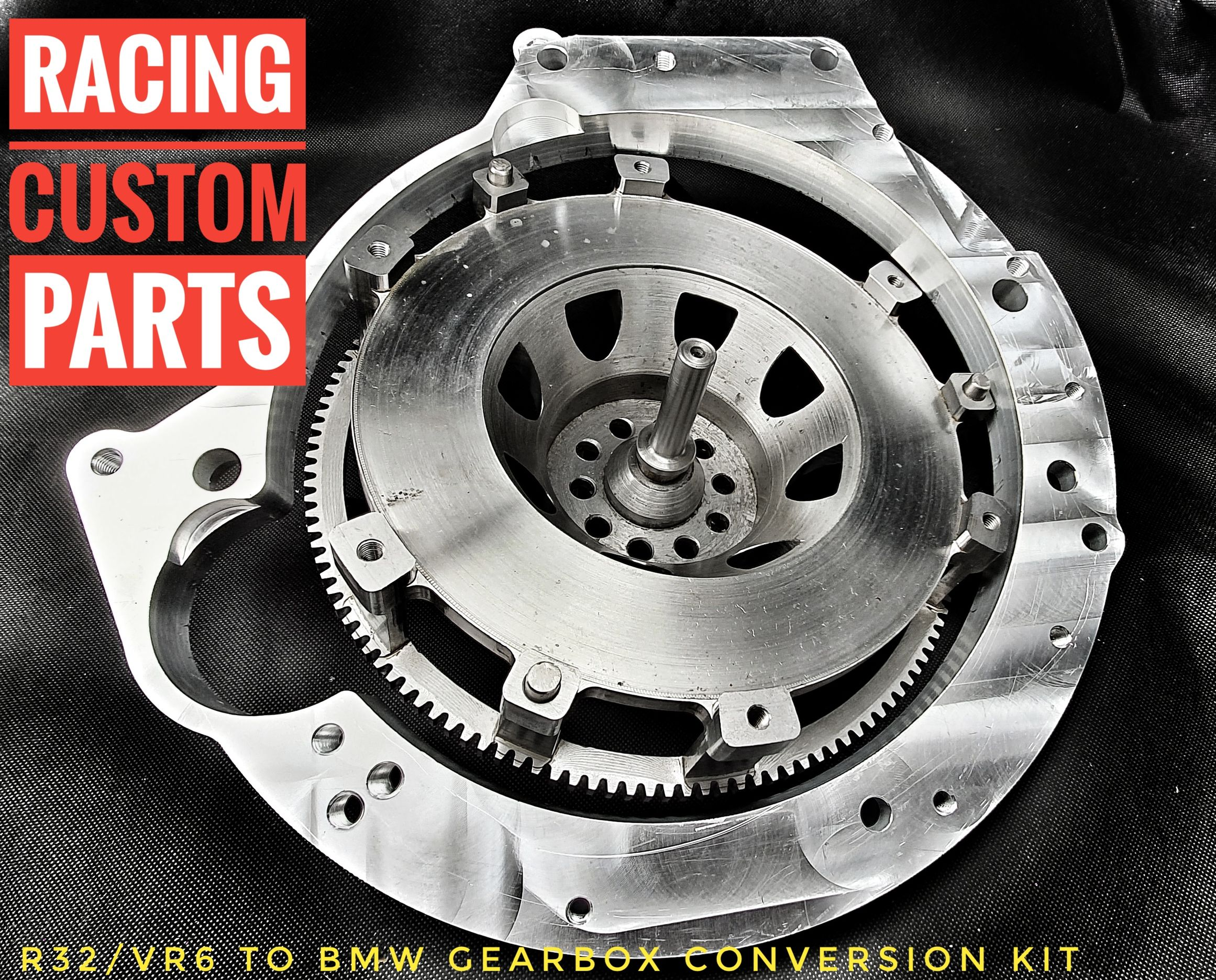 r32 vr6 bmw rwd gearbox conversion kit billet cnc racing custom parts