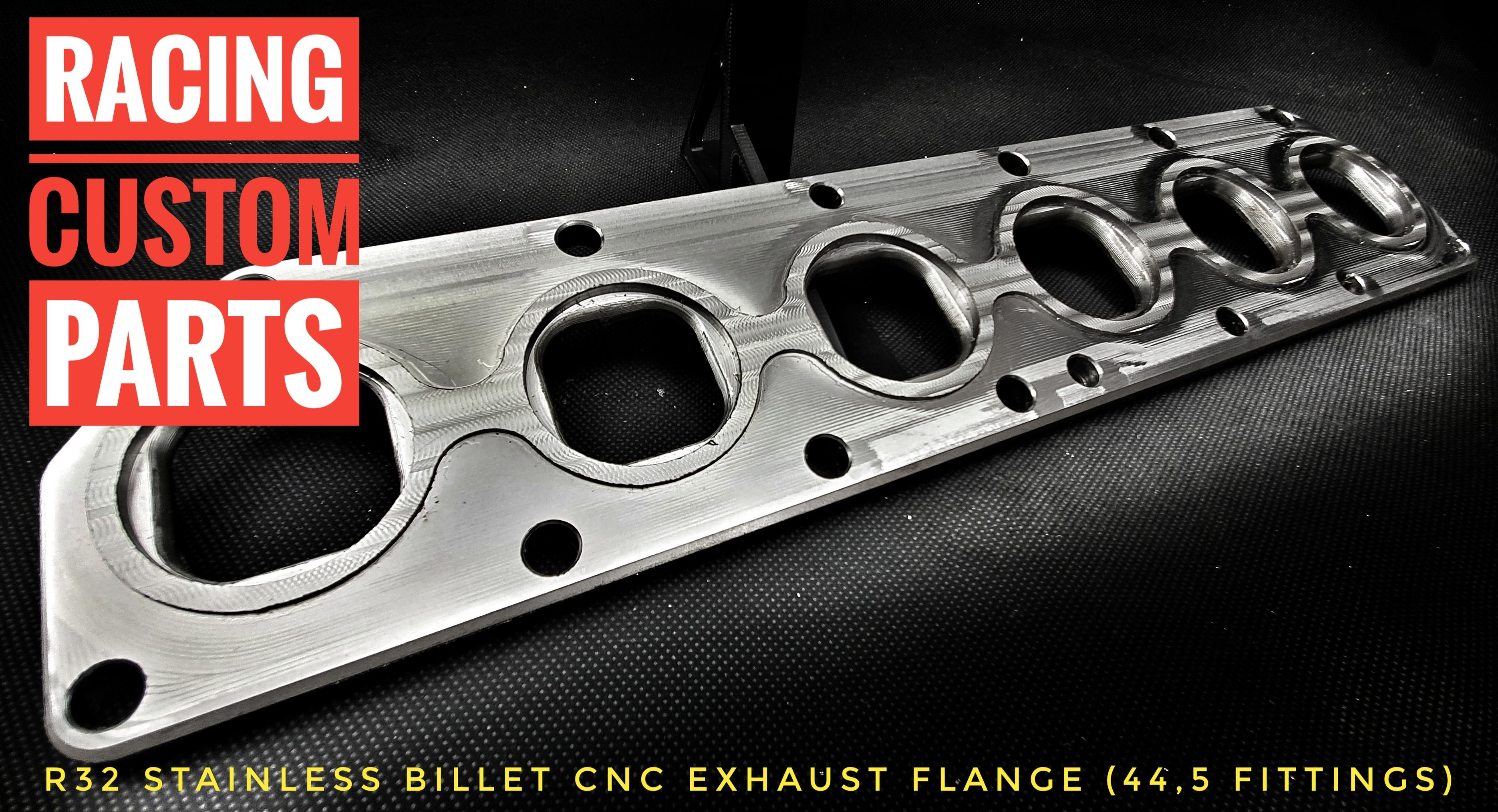 R32 3,2 v6 audi vw stainless steel exhaust plate billet cnc racing custom parts turbo