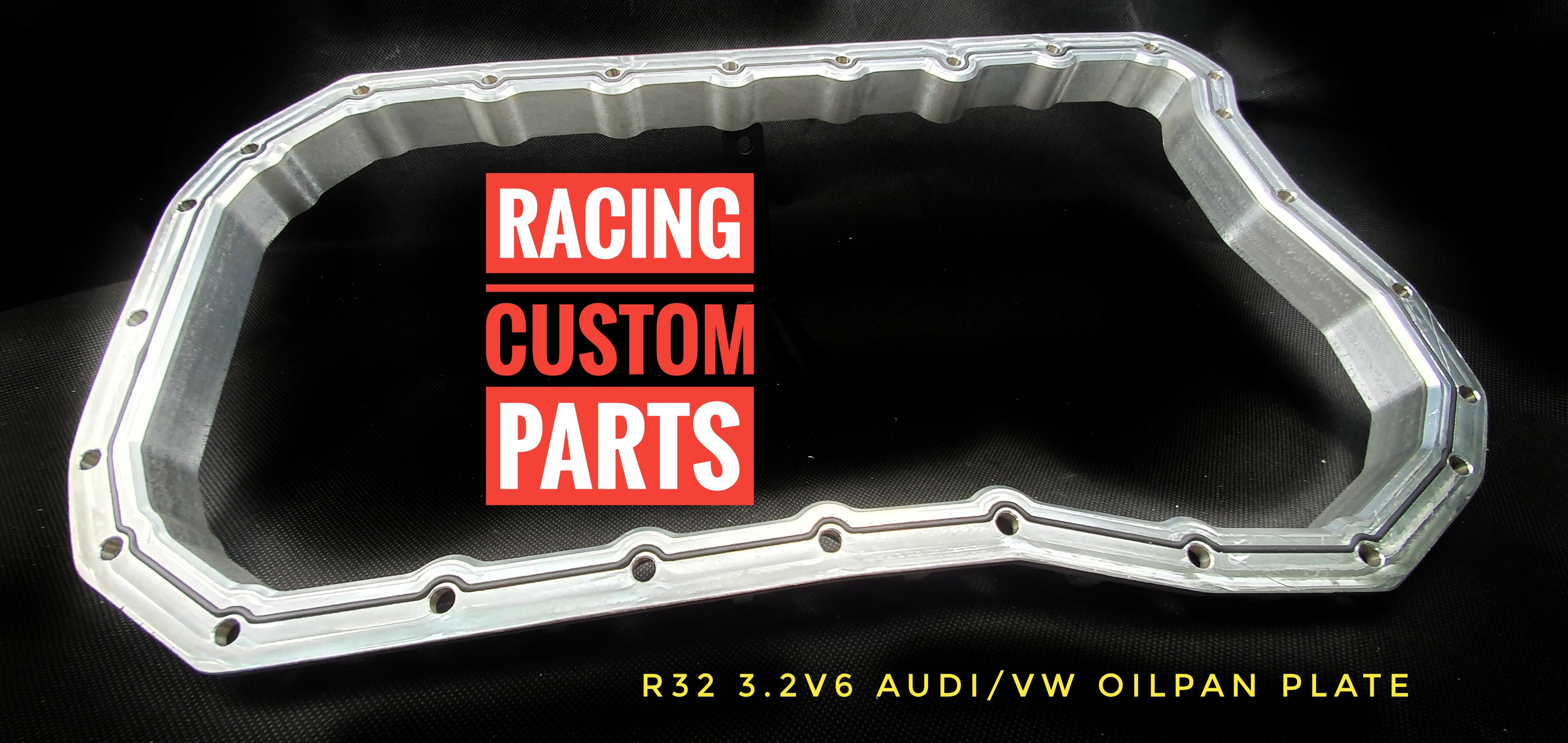 r32 oil pan billet plate racing custom barts r32 turbo audi vw billet cnc