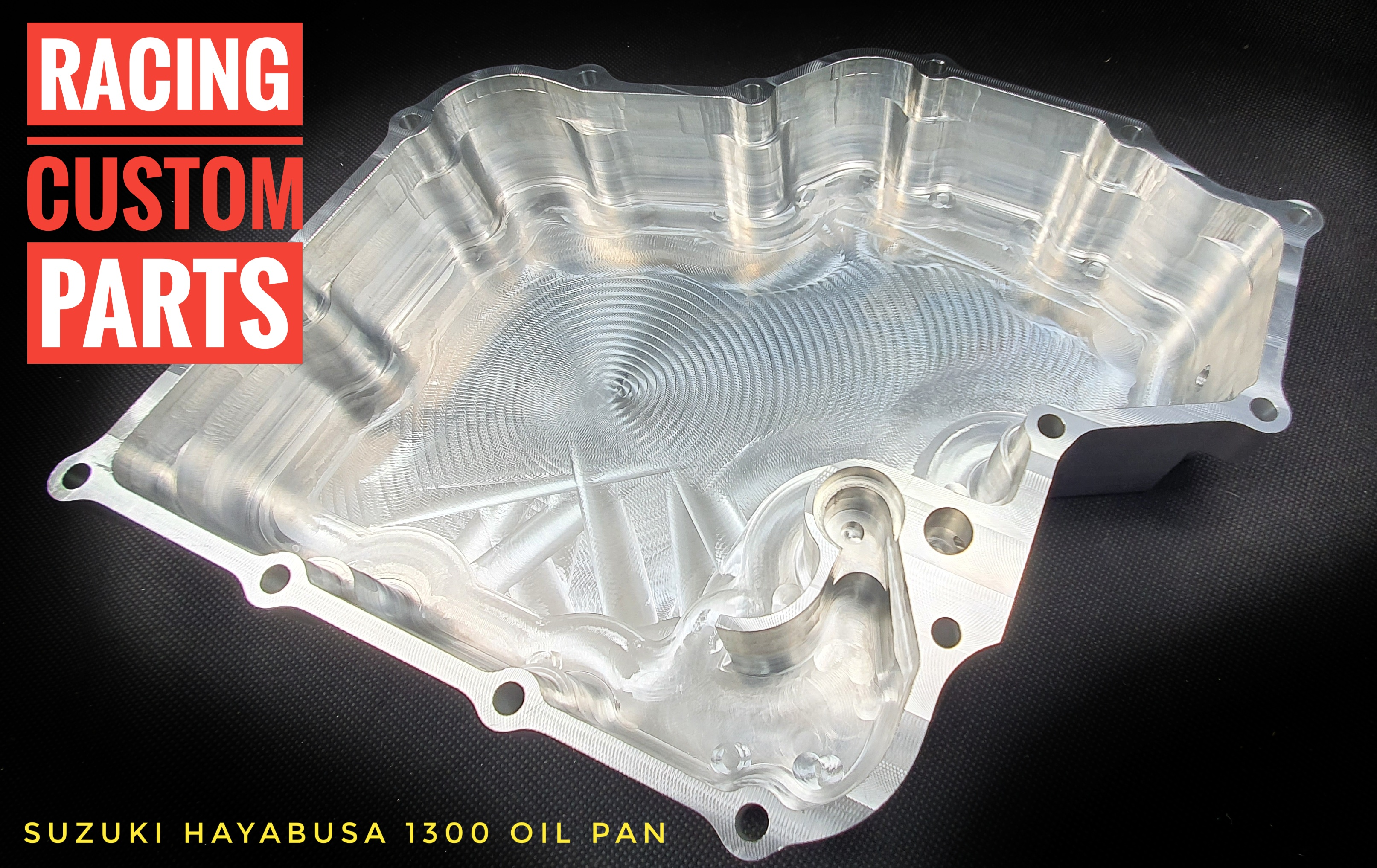suzuki hayabusa billet cnc oil pan racing custom parts