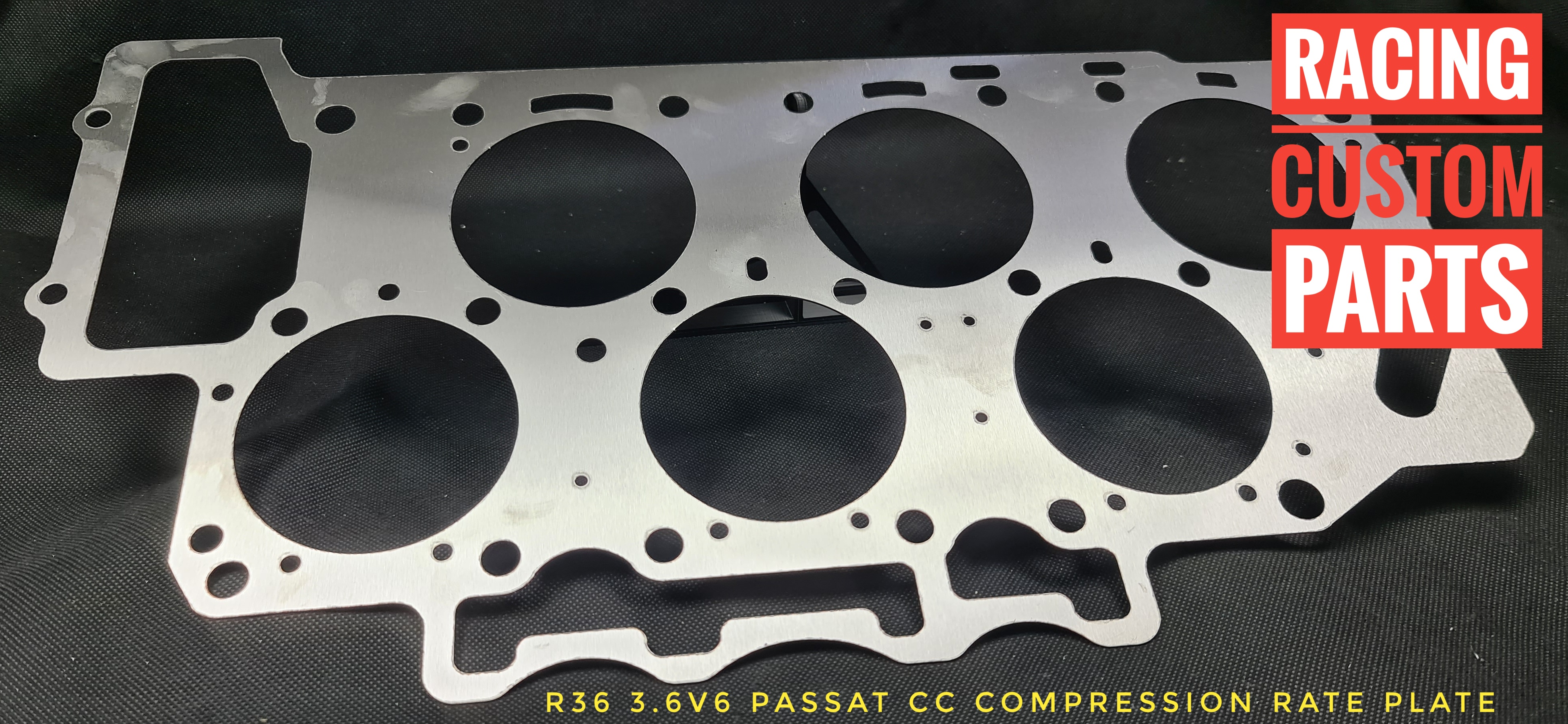 r36 3,6 v6 passat cc compression rate plate cr plate c/r plate billet cnc racing custom parts passat cc turbo