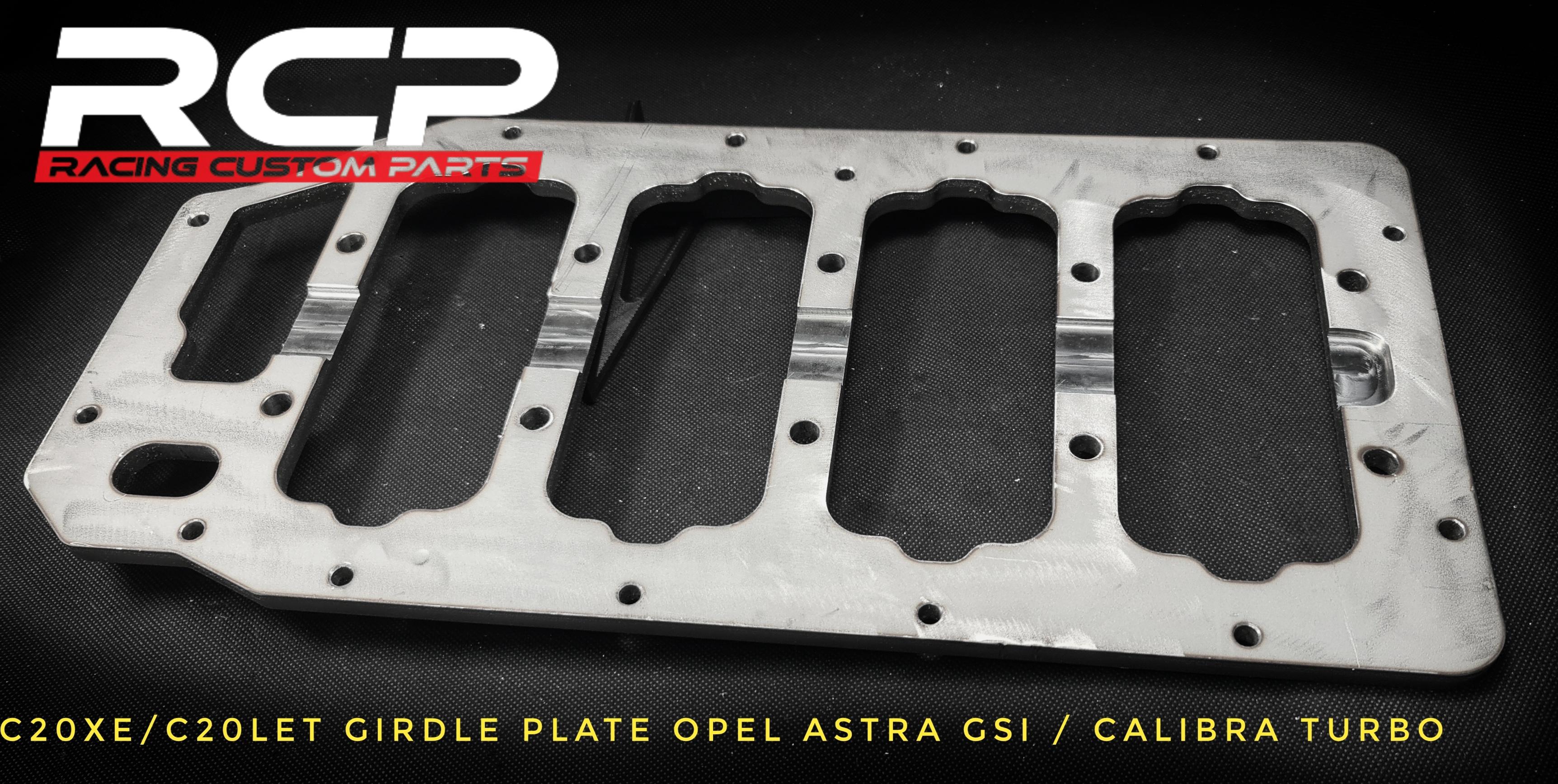 opel calibra turbo c20xe c20let girdle plate billet cnc racing custom parts