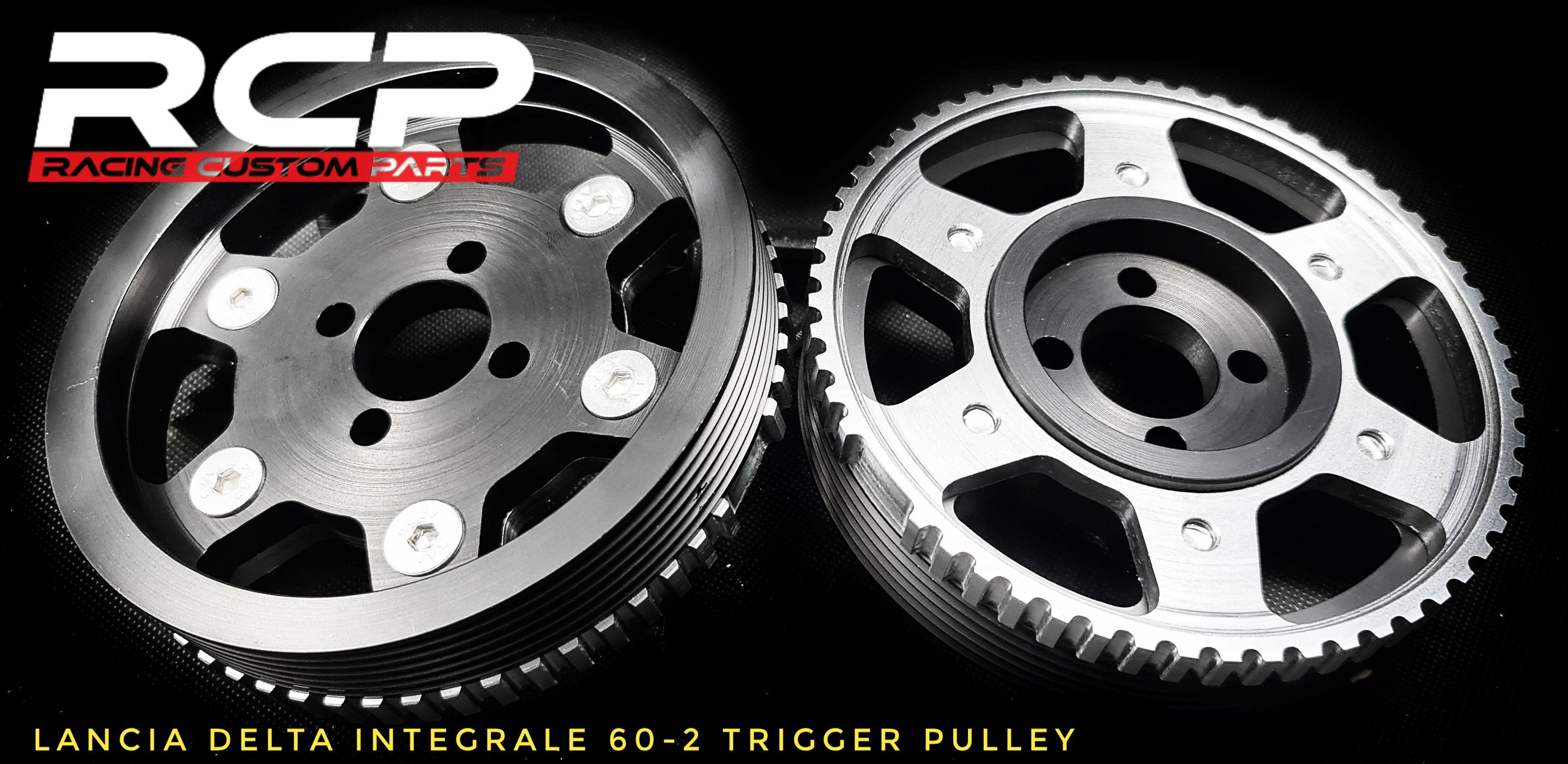 lancia detla integrale 2.0 turbo 60-2 trigger pulley vems emu standalone racing custom parts billet cnc