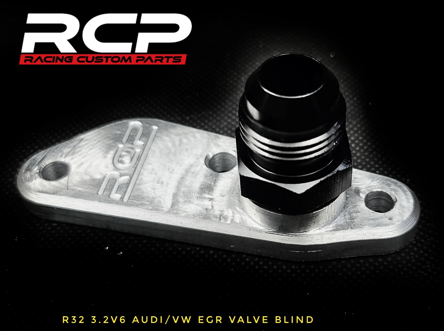 r32 audi vw turbo egr valve blind racing custom parts billet cnc