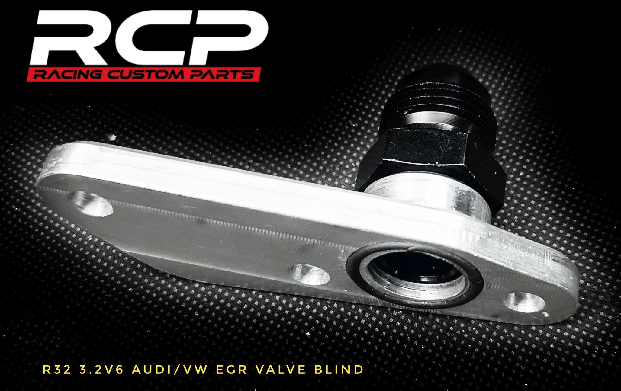 r32 audi vw turbo egr valve blind racing custom parts billet cnc