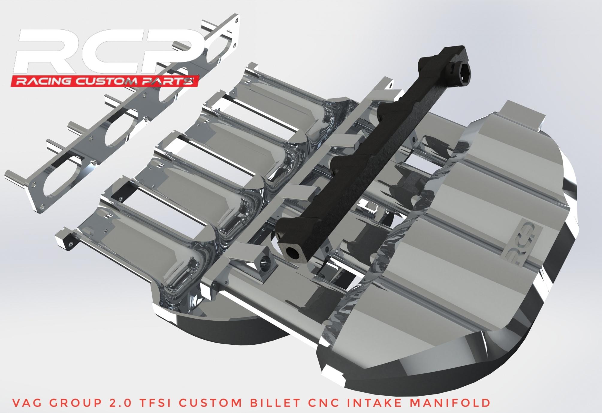audi vw vag group 2.0tfsi billet cnc intake manifold racing custom parts