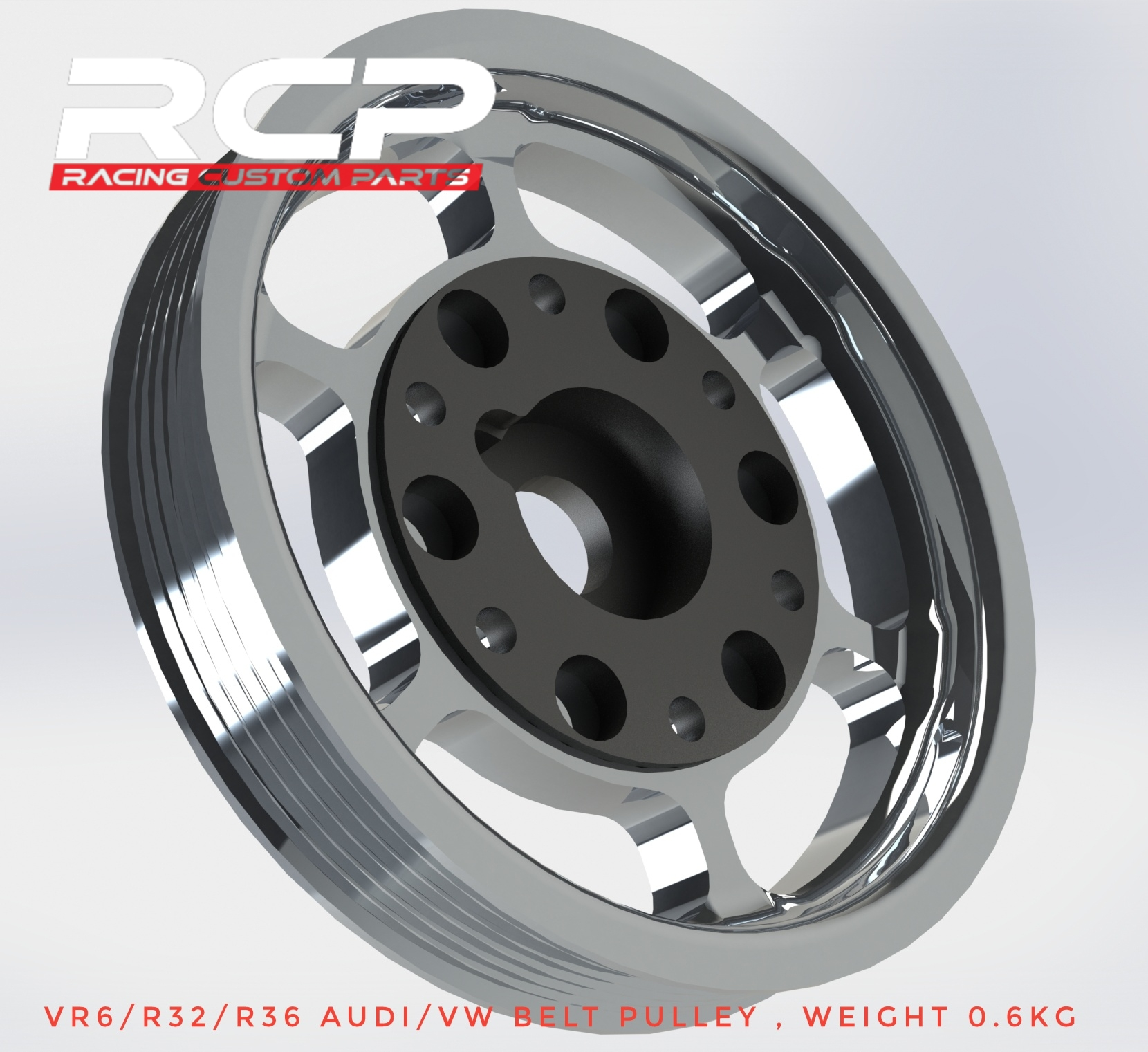 r32 r36 vr6 light belt pulley billet cnc racing custom parts audi trubo vw turbo
