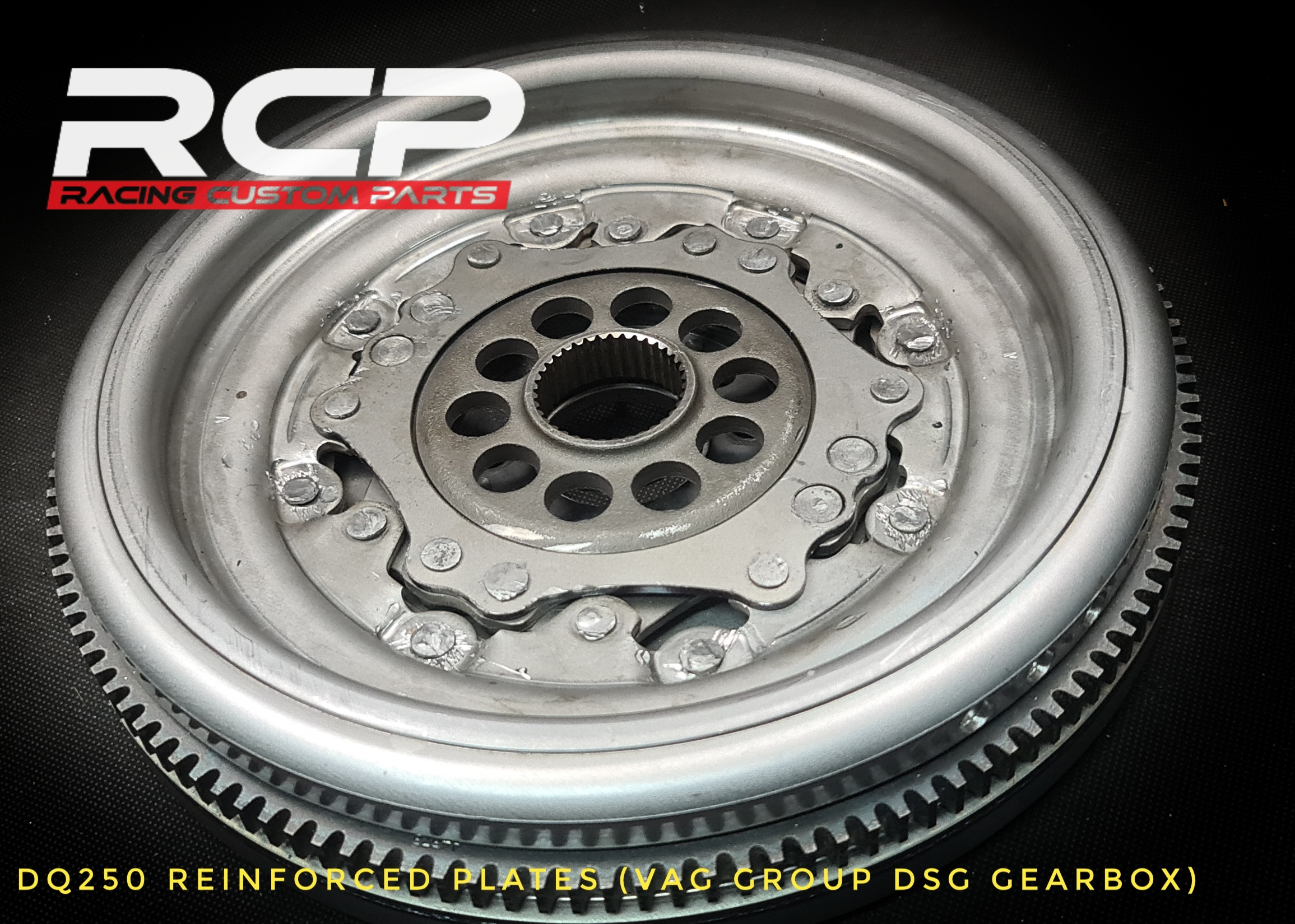dq250 reinforced plates custom flywheel billet cnc racing custom parts dsg vag group gearbox