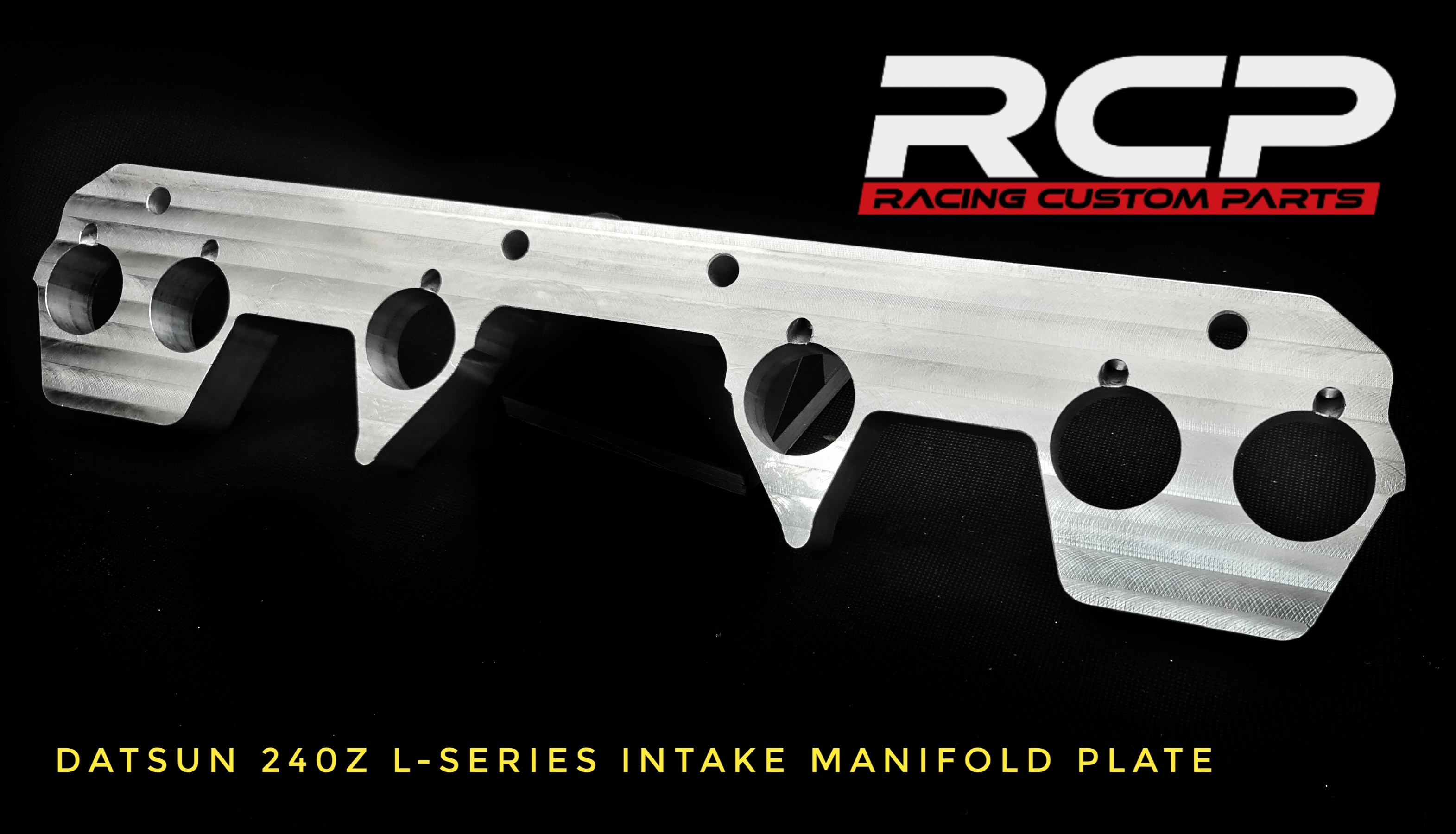 datsun 240z l-series intake manifold plate billet cnc racing custom parts turbo