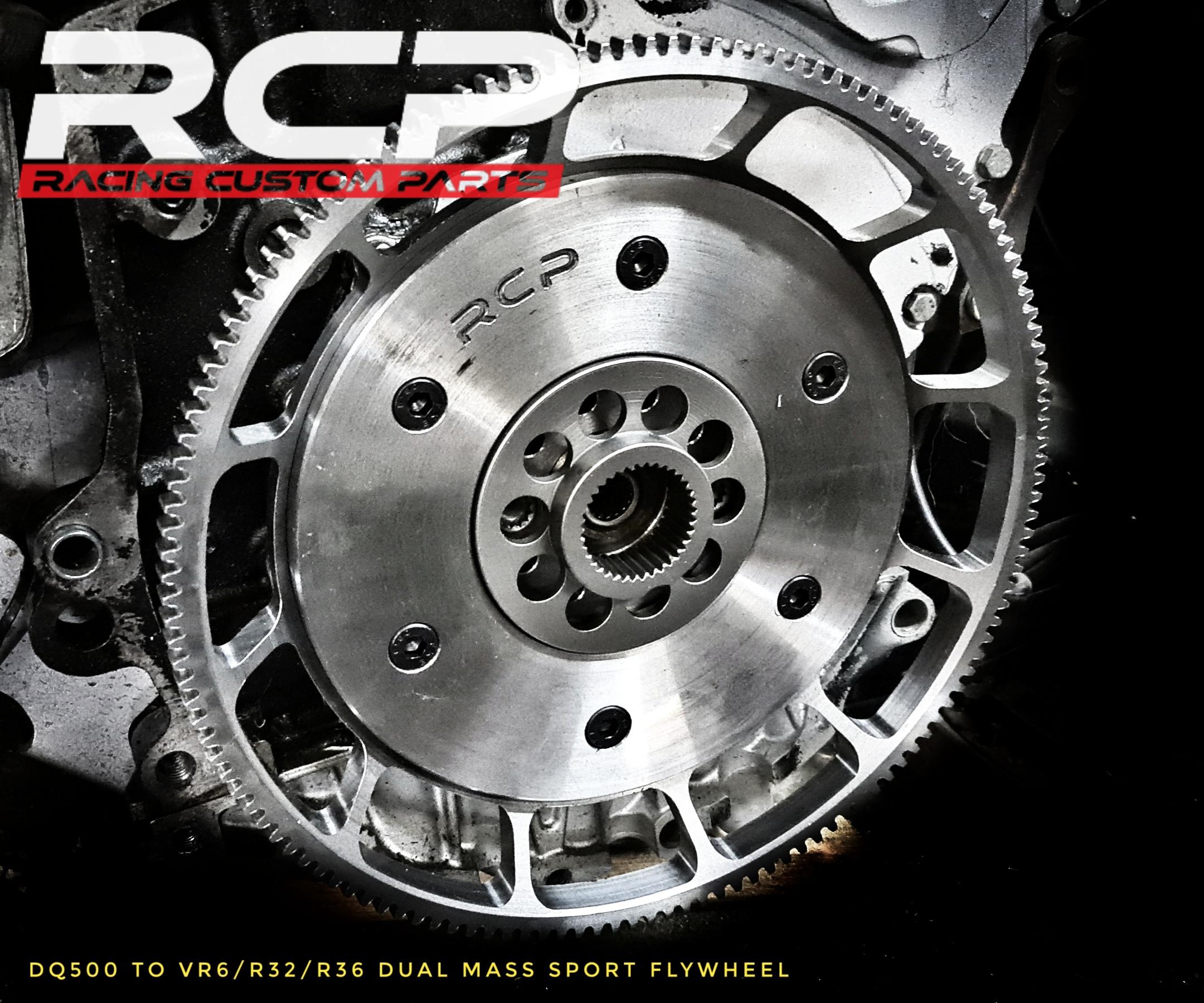 dq500 to r32 vr6 r36 dual mass sport flywheel rcp racing custom parts dragracing fast audi vw turbo dsg gearbox