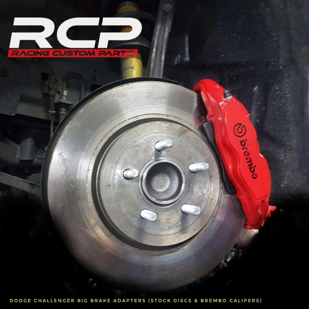 dodge challenger big brakes rcp racing custom parts brembo hellcat