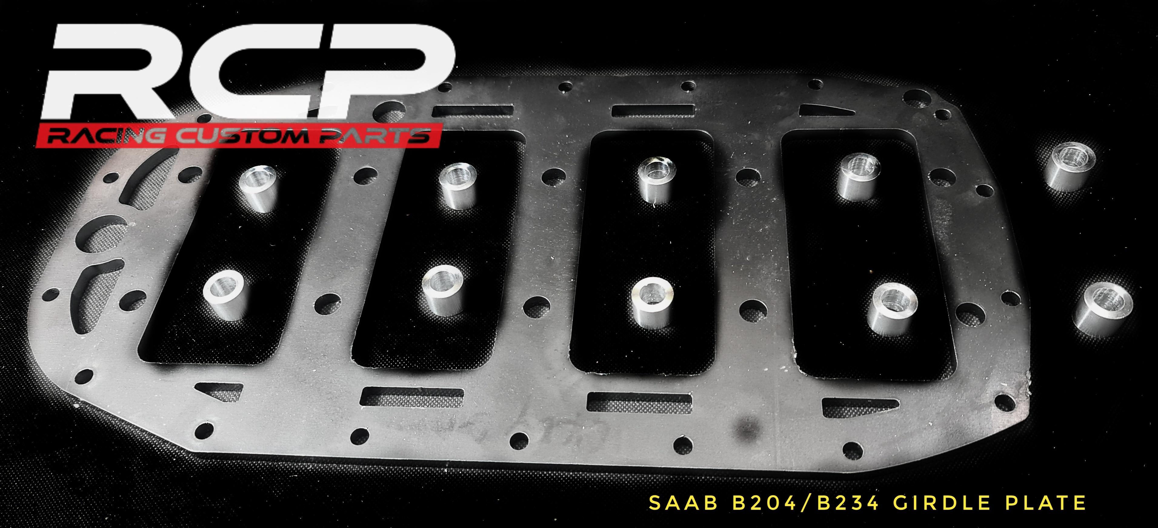 saab b204 b234 girdleplate griddle plate girdle plate turbo tuning maincaps saabpower rcp racingcustomparts