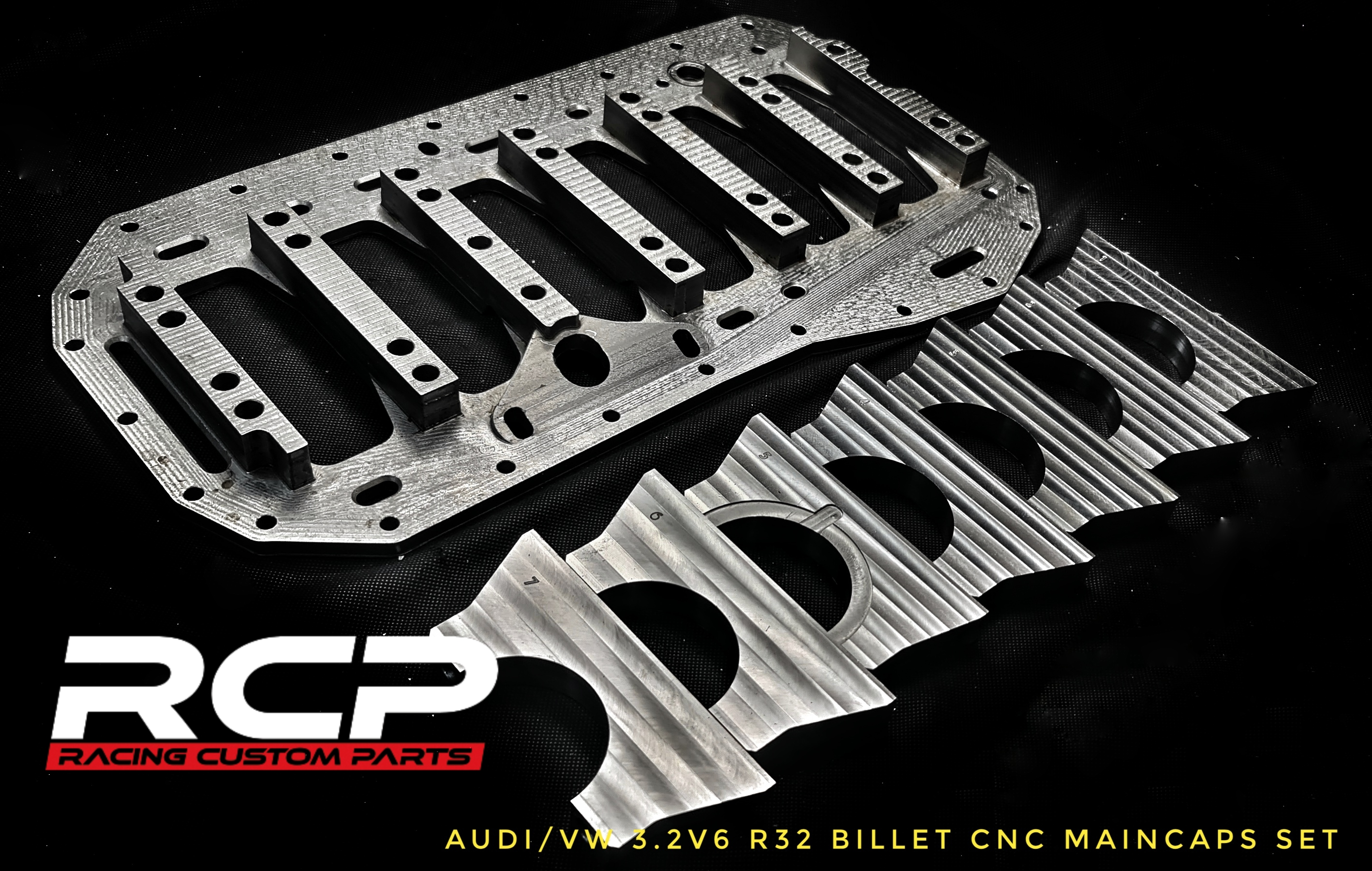 r36 r32 vr6 girdle plate griddle plate maincaps billet cnc machined turbo audi vw 1000hp rcp racing custom parts performance